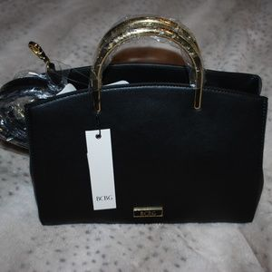 NWT BCBG Black & Gold Purse